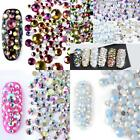 Newly Nail jewelry Size mix Color Austrian diamond Flat nails jewelry