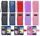 For Samsung Galaxy Note 8 Leather Wallet Flip Case w/ Card Slot Holder & Strap