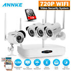 SANNCE Wireless 4CH 1080P HDMI NVR 4XCCTV IR Outdoor Security Camera System 1TB