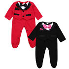 Newborn Baby Boy Gentleman Jumpsuit Romper Bodysuit Outfits Clothes Formal Suit
