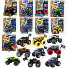 trucks toys - Hot Wheels Monster Jam Truck w/ Team Flag 1:64 Toy Mattel Assortment Choose NIB