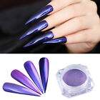 Purple  Pearl Nail Art Glitter Powder Mirror Chrome Pigment Born Pretty