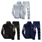 Mens Sweatshirt+Sweatpants Velvet Thicken Tracksuit Baseball Jacket Suit M-4XL