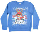 Boys Angry Birds Avalanche Crewneck Sweatshirt Christmas Blue Kids