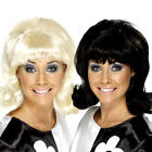1960s Hairspray Flick-Up Wigs Ladies Fancy Dress Retro Adults Costume Accessory
