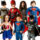 Justice League Kids Fancy Dress Comic Book Day Week Superhero Childrens Costumes