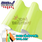 *Premium Gloss Glossy Lime Yellow Green Car Vinyl Wrap Sticker Decal Air Release