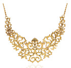 Fashion Exaggerated Retro Hollow Carved Short Clavicle Necklace Chain Popular