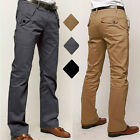 Herren Chinohose Chino Hose Bequem Jeans Slim Fit Business Casual Stoff Hosen