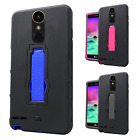 For LG Stylo 3 IMPACT Hard Protector Rubber Kickstand Case Phone Cover Accessory