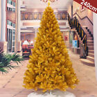 SClassic Champagne GOLD Slim Pre-Lit Christmas Tree Mid Century Indoor Outdoor