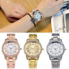 Womens Stainless Steel Band Marble Strap Casual Watch Quartz Analog Wrist Watch