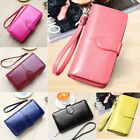 US Lady Women Fashion Leather Clutch Wallet Long Card Holder Case Purse Handbag