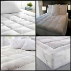 "Mattress Topper Extra Deep 5cm Non Allergenic ""Microlite"" Microfibre Box Stitch"