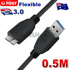 New Flexible USB 3.0 Male A to Micro B Hard Drive Cable For Seagate WD & etc