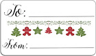 To From Christmas bunting style Self Adhesive Labels with FREE protective wallet