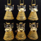 VENETIAN GOLD COLOURED GLASS ANGEL CHRISTMAS TREE DECORATIONS, CHOOSE NUMBER