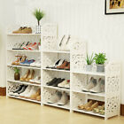 3 4 Tiers Home Shoe Rack Shelf Storage Organizer Cabinet Closet Space Saving US