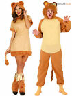 Adults Lion Costume Mens Ladies Animal Fancy Dress Jungle Zoo Book Week Outfit