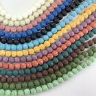 Wholesale 6mm 8mm 10mm Natural Lava Rock Round Spacer Loose Beads Free Shipping