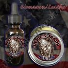 Devil's Mark MOAB Beard Balm Beard Oil by Triple Six Artistry Cinnamon Leather