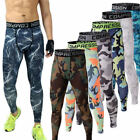 US Mens GYM Compression Running Tights Camouflage Sport  Trouser Pants GIFT