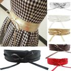 Womens Stretch Buckle Waist Belt Bow Wide Leather Elastic Corset Waistband GIFT
