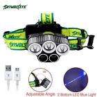 SKYWOLFEYE  XMLT6 5X LED 32000 Lm Headlamp Rechargeable USB Camping Lamp SP