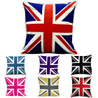 Union Flag/Jack Cotton Cushion Cover UK British Flag Multiple Colours Cotton P.C