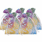 100PCS Sheer Coralline Organza Jewelry Pouch Wedding Party Favor Candy Gift Bags