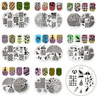 whale template - 2pcs BORN PRETTY Round Nail Stamping Image Plates Nail Art Stamp Template Tools