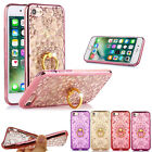 Luxury Glitter Bling Silicone Ring Stand Case Cover For iPhone / Samsung Phones