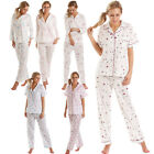 Ladies Nightwear Pyjamas Womens Short Long Sleeves Pjs Set Lady Olga Plus Size