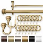 """IMPERIAL 1.25"""" Matte Gold Double Curtain Drapery Rod 28"""" - 144"""""""
