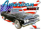 1965 Black Chevy El Camino Custom Hot Rod USA T-Shirt 65 Muscle Car Tees