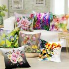 Digital Printed 3D Flowers Themed Cushion Cover Sofa Home Décor