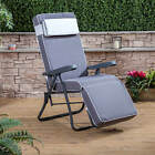 Garden Relaxer Chair - Charcoal Adjustable Frame with Luxury Cushion