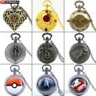 Antique Pocket Watch Gift Quartz Necklace Chain Pendant Luxury Mens Steampunk image