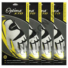 4 PACK OPTIMA MENS XTD SYNTHETIC LEATHER GOLF GLOVE - RIGHT HAND