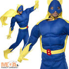Bananaman Mens Superhero Fancy Dress Banana Man Adult Costume Outfit + Cape
