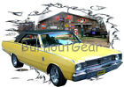 1967 Yellow Dodge Dart Custom Hot Rod Garage T-Shirt 67 Muscle Car Tees $19.99 USD on eBay