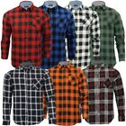 jackd - Mens Checked Tartan Long Sleeved Collared Shirt By Brave Soul