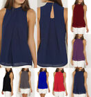 Fashion Womens Sleeveless Vest Top Blouse Casual Tops Crew Summer T-Shirt GIFT