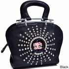 Betty Boop Rhinestone and Studs Shoulder Bag $43.34 USD