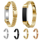 For Fitbit Alta/HR!Adjustable 316L SS Steel Wristband Bracelet w/Classic Buckle