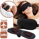 3D Eye Mask Soft Padded Sponge Travel Blindfold Blackout Rest Aid Sleep Shade