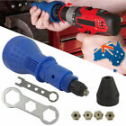 Rivet Gun Adaptor for Cordless Drill Electric Nut Riveting Tool Riveter Insert