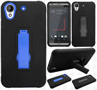 For HTC Desire 555 IMPACT Hard Protector Rubber Kickstand Case Phone Cover
