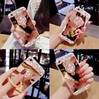 Bling Rhinestone Crystal Ring Holder Mirror Stand Case For iPhone Samsung GIFT