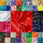 Silky Satin Fabric Plain Dress Craft Material Polyester 150cm Wide